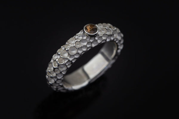 Silver Ring With Andalusite - ArtLofter