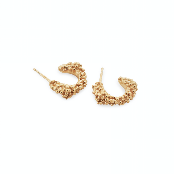 Gold Sparkling Earrings - ArtLofter