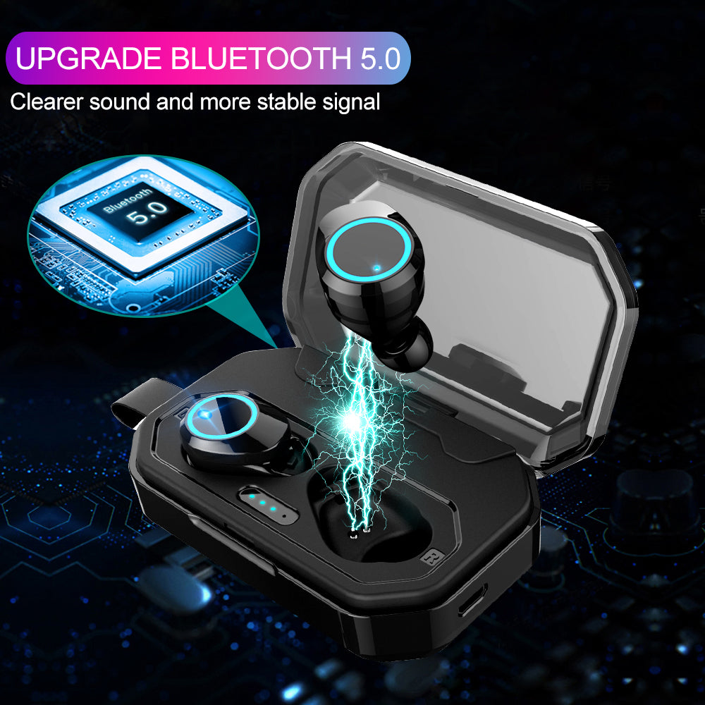 c147b2f56d3 [Bluetooth 5.0 & IP7 Waterproof]The NEWEST TWS Earbuds Headset Dual Mic  with Charger