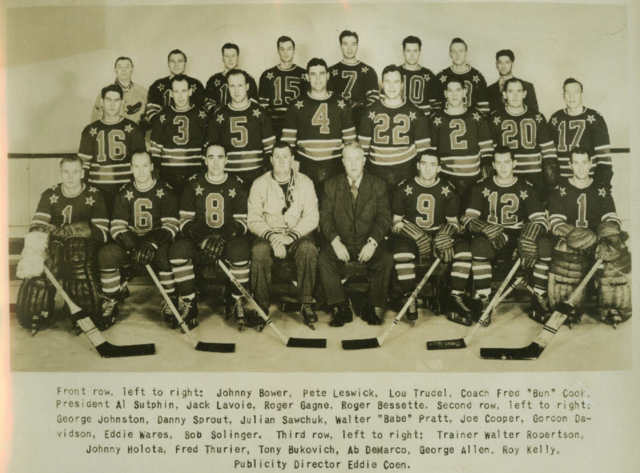 1947 Cleveland Barons Hockey Team Picture