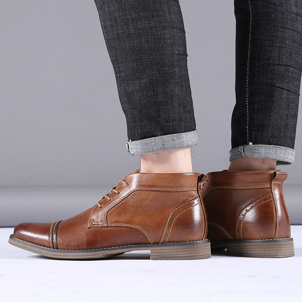 Leather Ankle Boots (0251) - Clothing Deals Online