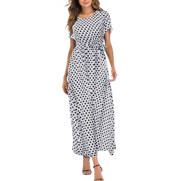 Short Sleeve Maxi Dress (HSFS) - Clothing Deals Online