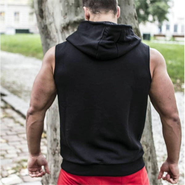 Sleeveless Workout Hoodie (M13) - Clothing Deals Online
