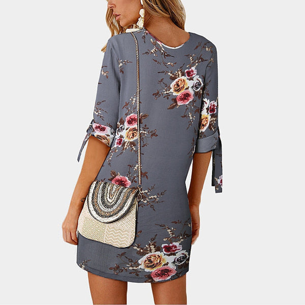 Floral Print Short Party Dress (7256) - Clothing Deals Online