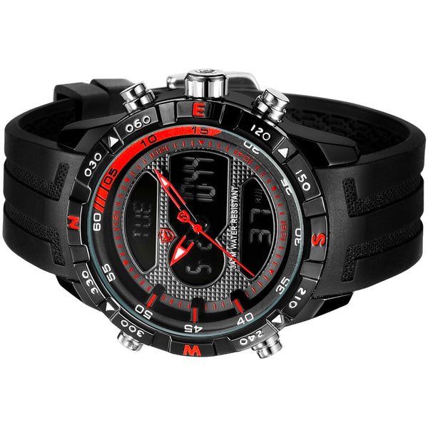 Sport Chronograph Silicon Strap Watch (598) - Clothing Deals Online