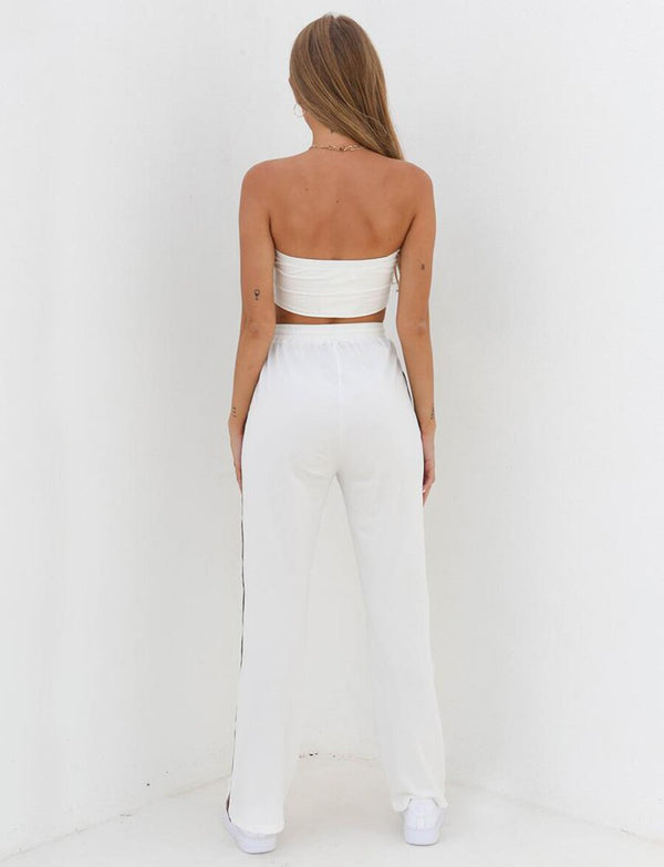Crop Top and High Waist Pants (H084) - Clothing Deals Online