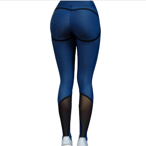 High Waist Mesh Inserts Breathable Leggings (111) - Clothing Deals Online