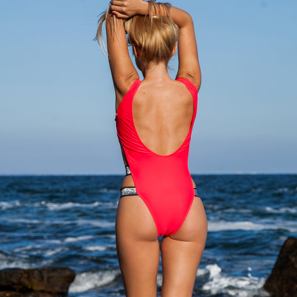 Sexy One Piece Swimsuit (8421) - Clothing Deals Online