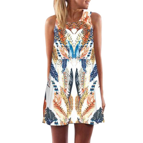 Rose Print Short Dress (Q100) - Clothing Deals Online