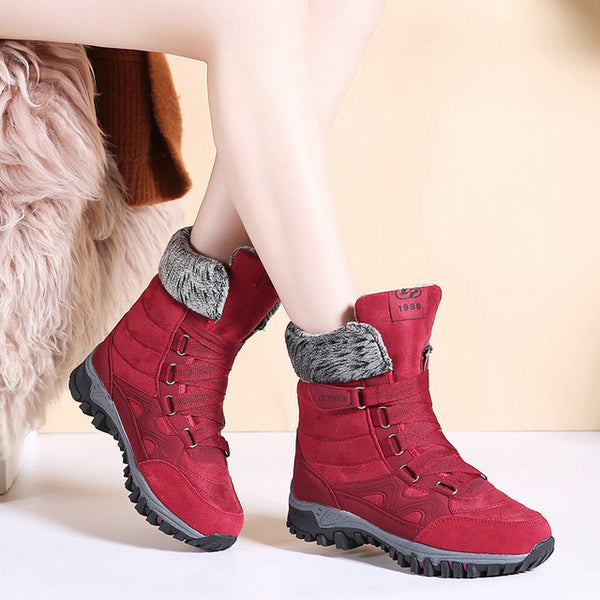 Leather Suede Winter Boots (PNSN) - Clothing Deals Online