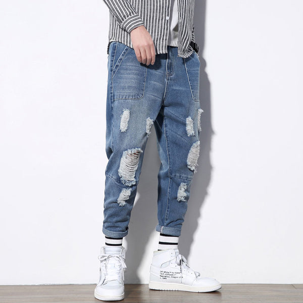 Distressed Denim Joggers (CLM) - Clothing Deals Online