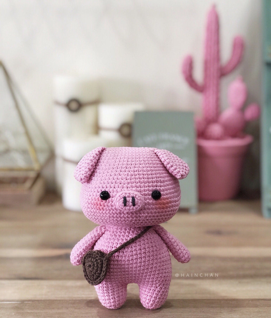 Pinky The Little Pig And Brownie The Little Bear – Crochet PDF pattern, instant download