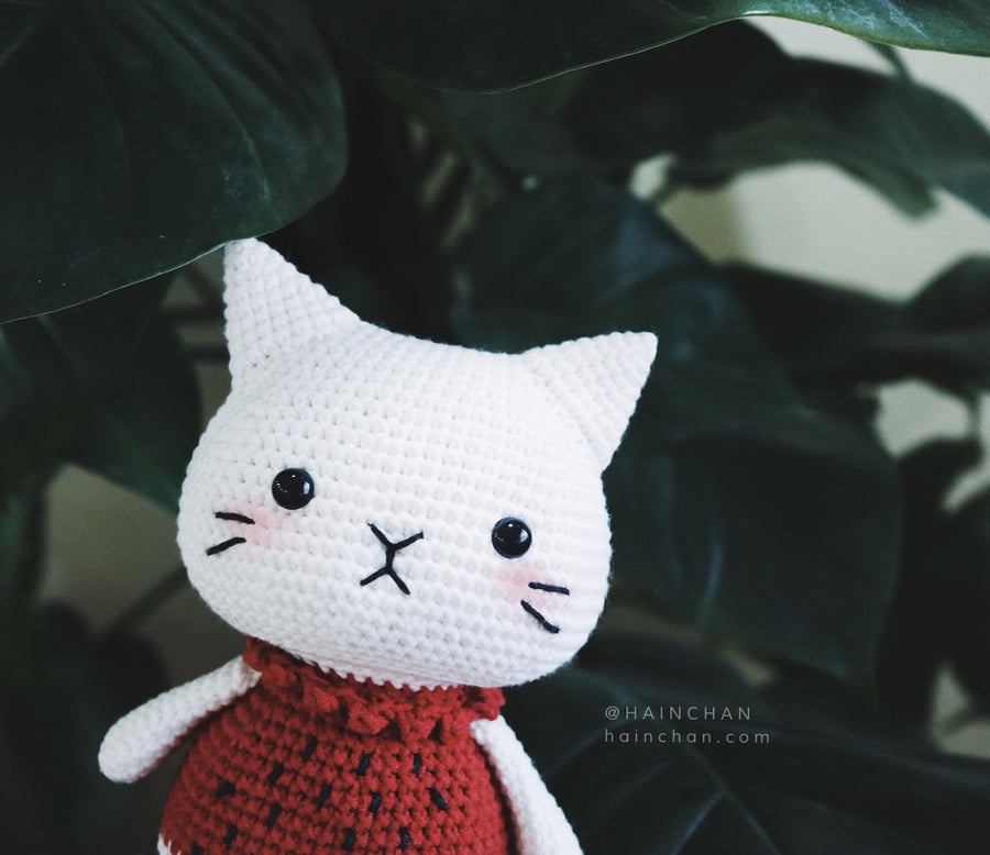 Suika The Little Cat - Crochet PDF pattern, instant download