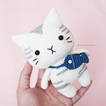 Silver Tabby Cat – Crochet PDF pattern, instant download