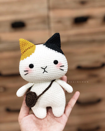 Tira The Little Cat - Crochet PDF pattern, instant download.
