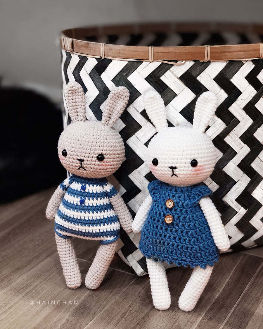 Bunny Couple Crochet Pattern  –  Crochet PDF pattern, instant download