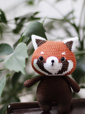 Little Red Panda – Crochet PDF pattern, instant download