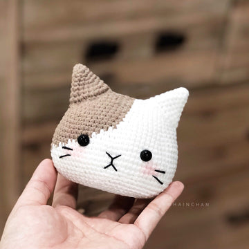 4 Cat Head  – Crochet PDF pattern, instant download