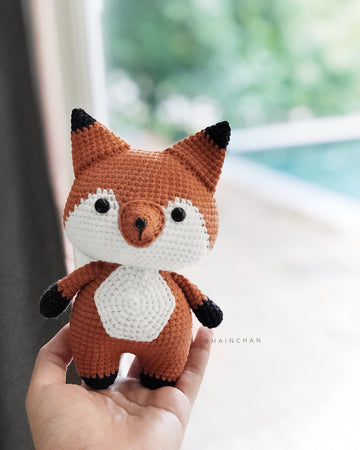 Coral The Little Fox - Crochet PDF pattern, instant download