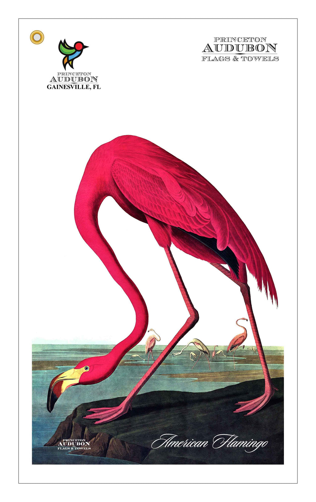 Golf Bag Towel American Flamingo