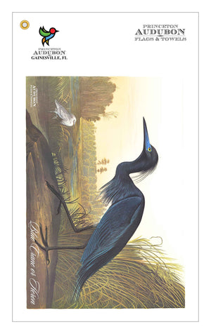 Golf Bag Towel Blue Crane or Heron
