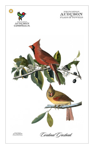 Golf Bag Towel Cardinal Grosbeak