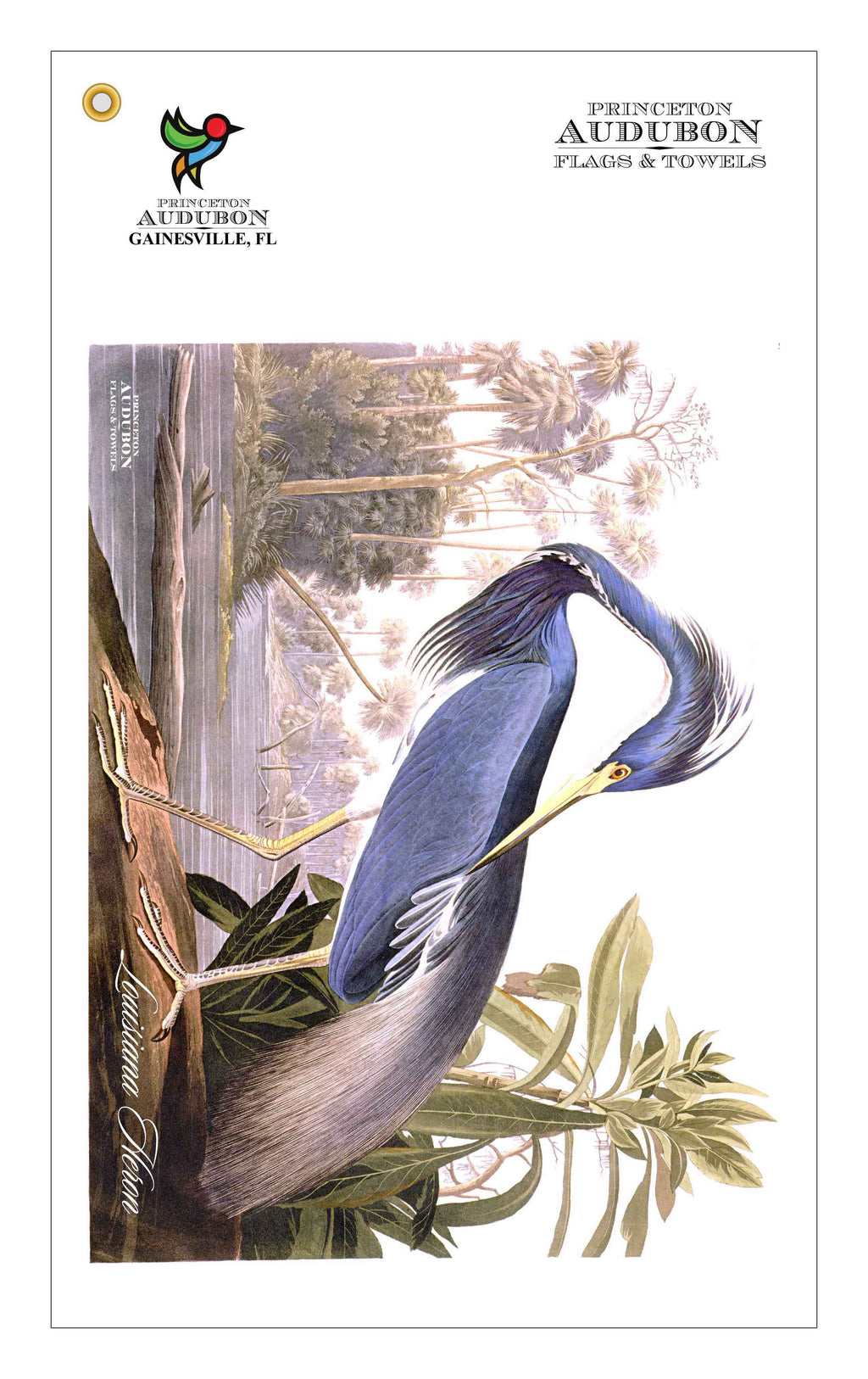Golf Bag Towel Louisiana Heron