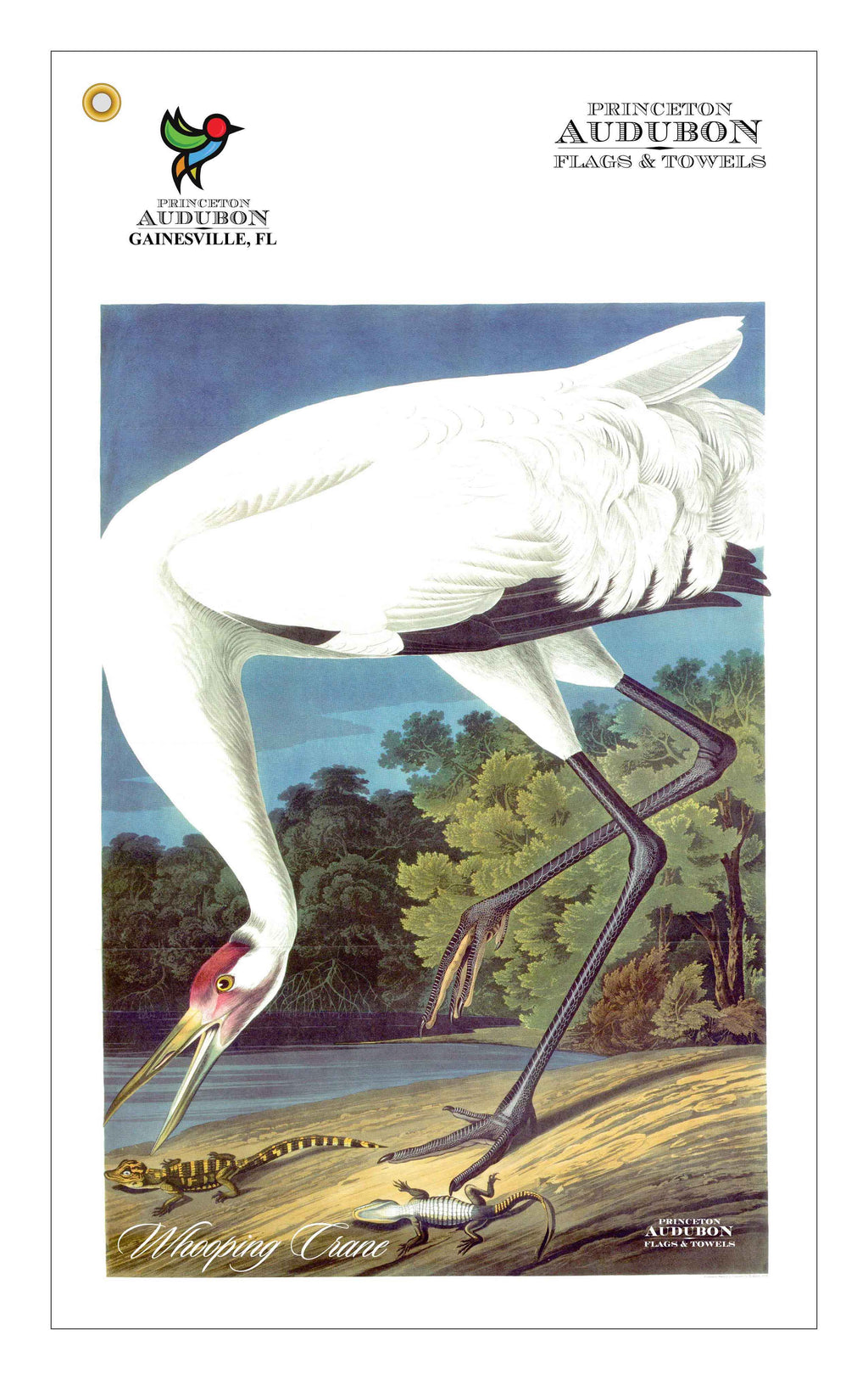 Golf Bag Towel Whooping Crane