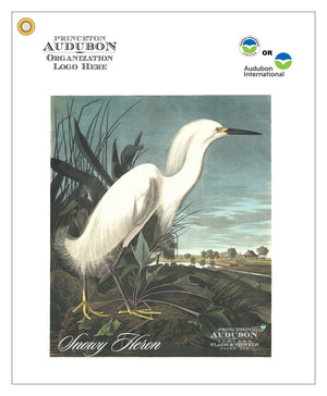 Golf Ball Washer Towel Snowy Heron
