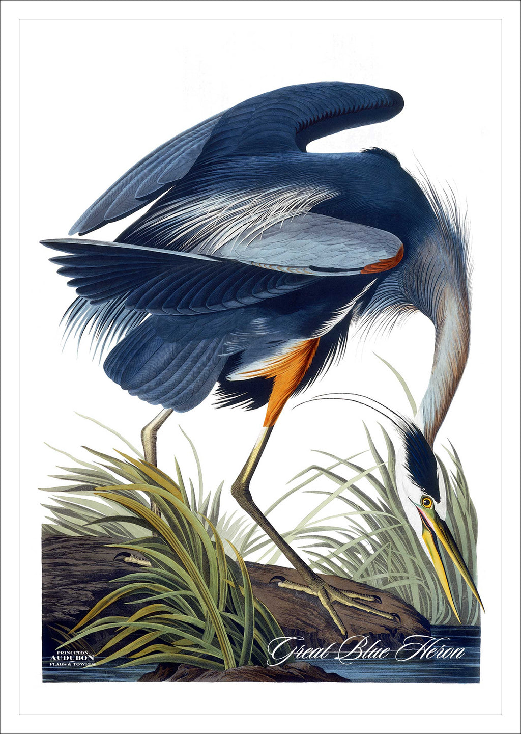 PAL, Garden Flag 12.5x18 (GFG), Great Blue Heron, GREATBLUEHERON, S