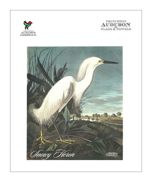 Pocket Kitchen Towel Snowy Heron