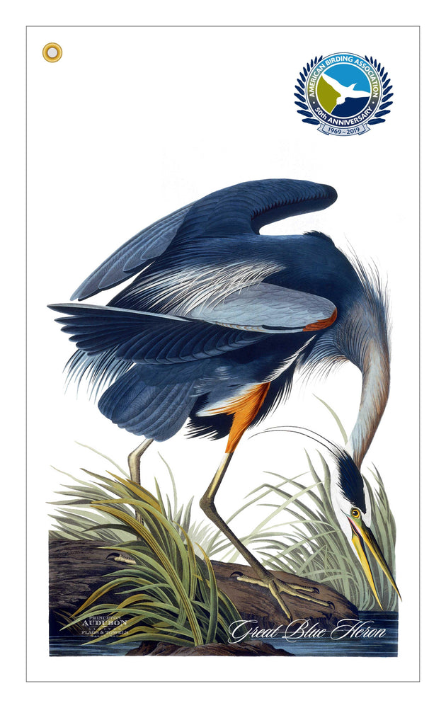 TP2, Golf Bag Towel, Great Blue Heron, GREATBLUEHERON