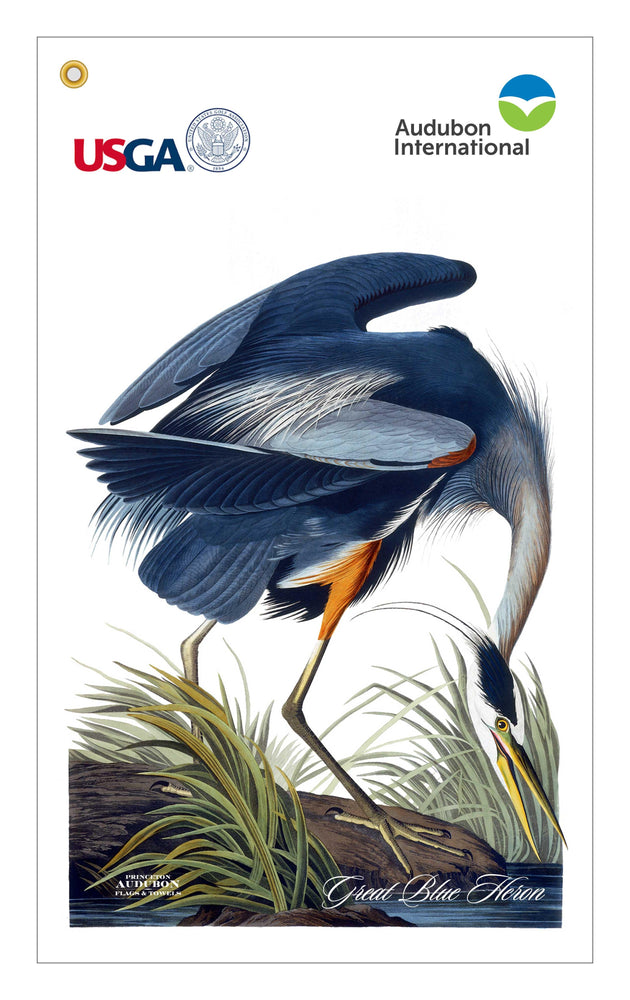 USGA, Golf Bag Towel, Great Blue Heron, GREATBLUEHERON, S