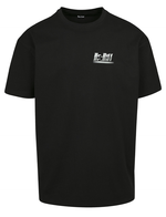Oversized t-shirt black logo reflective