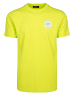 Neon yellow green t-shirt streetwear badge