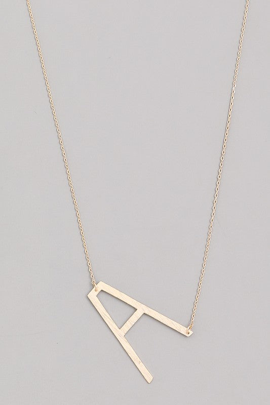 Initial Side Necklace In Gold