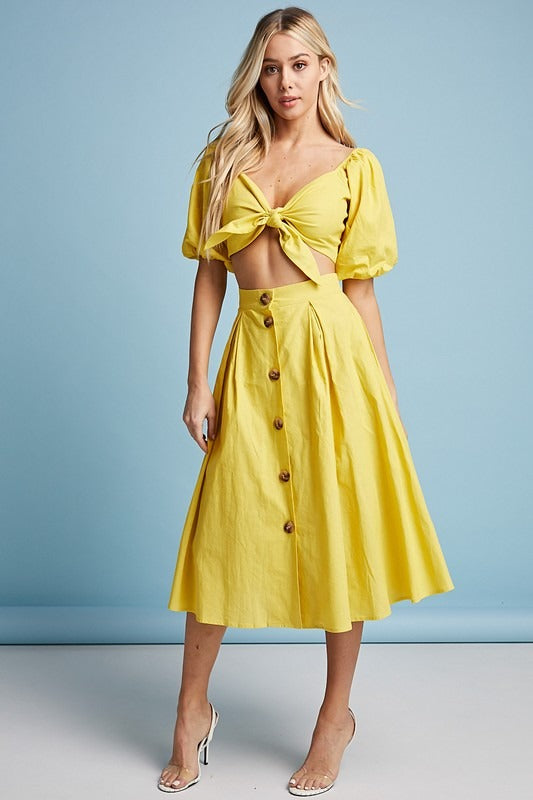 Hello Sunshine Skirt Set