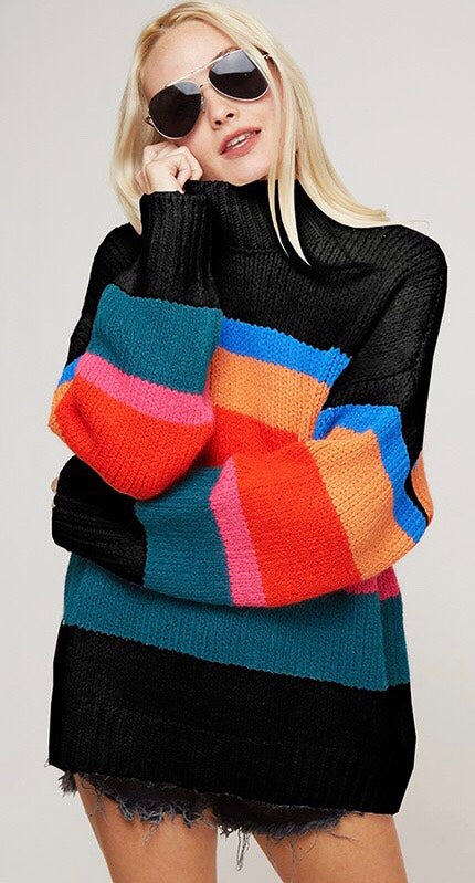 Rainbows & Stripes Sweater