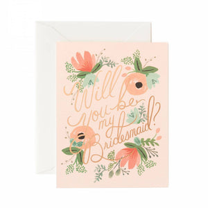 Blushing Bridesmaid Card by Rifle Paper Co.