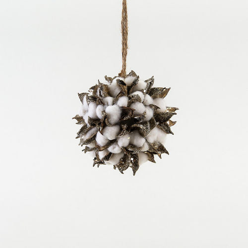 Ornament -Glitter Cotton Ball