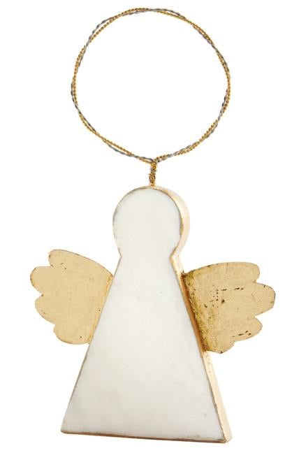 Marble Angel Ornament