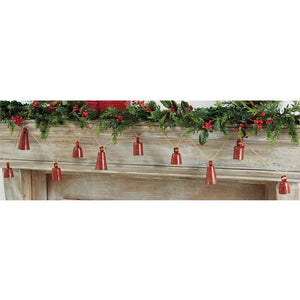 Distressed Red Bell Garland