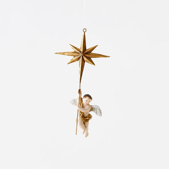 Cherub with Star Ornament