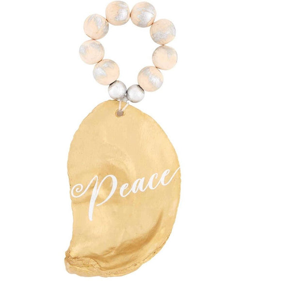 Peace / Merry Oyster Ornaments
