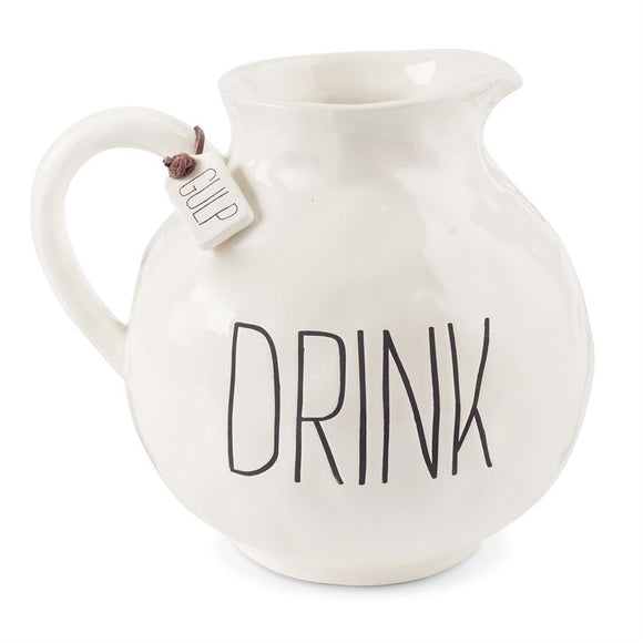 """Drink"" Pitcher by Mudpie"