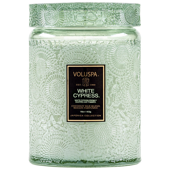 White Cypress Small Candle