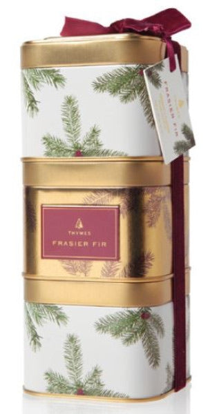Frasier Fir Stacking Tin Candles