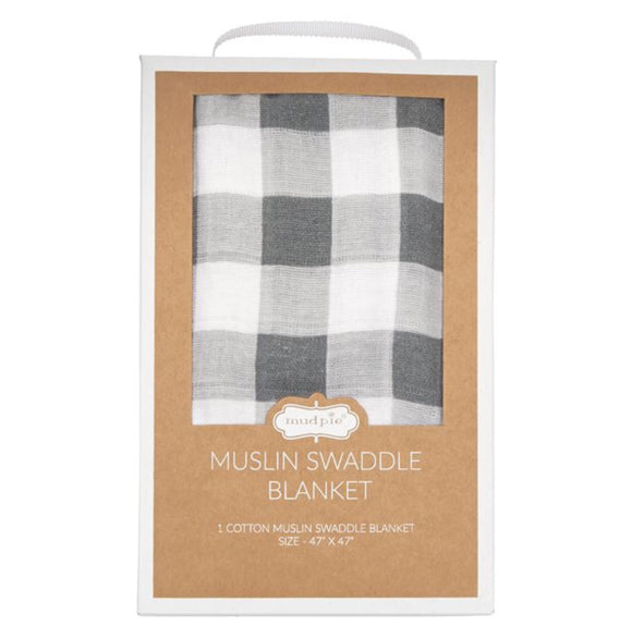Gingham Muslin Swaddle