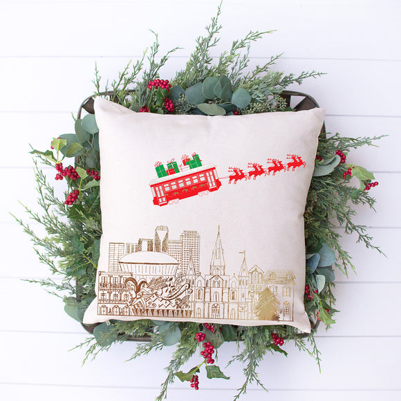 NOLA Christmas Pillow