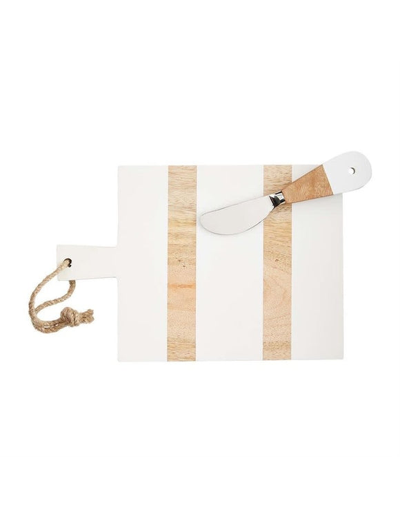 White and Wood Rectangle Cutting Board